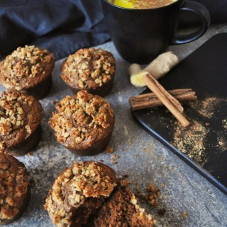 Healthy Gingerbread Oat Muffins (Refined sugar free)