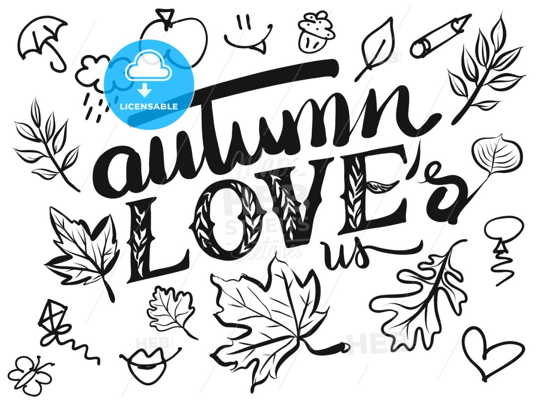 Autumn Loves us Typo and Icons