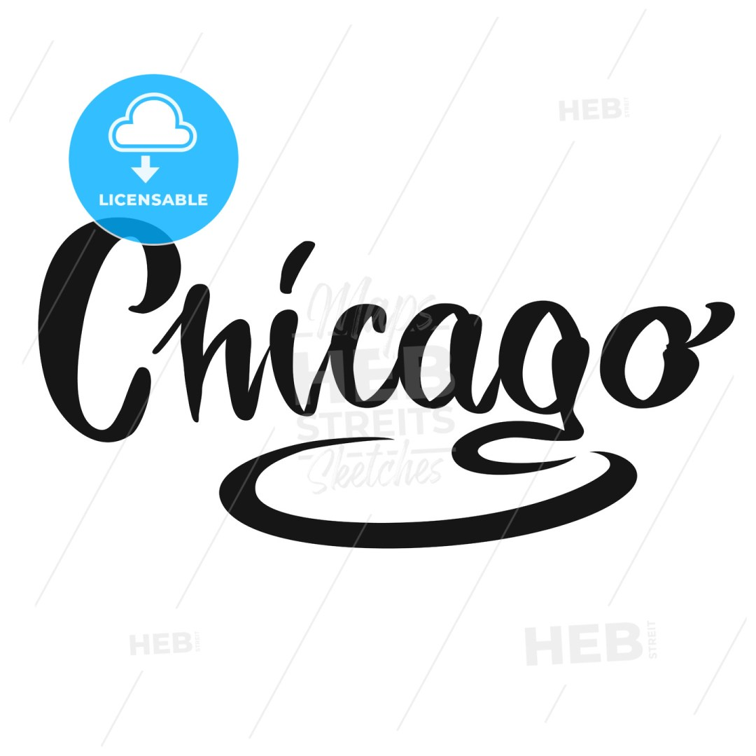 Chicago calligraphic Lettering