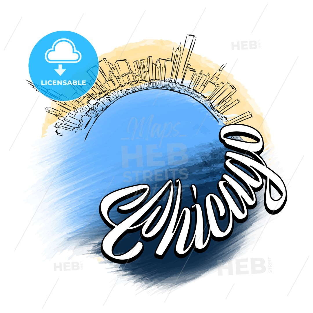 Chicago Travel Logo Sketch