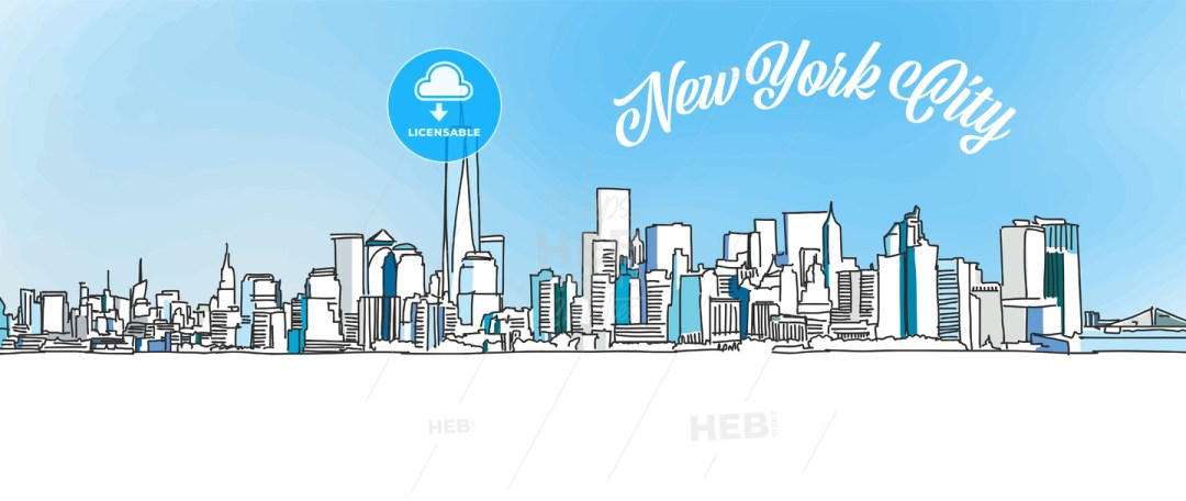 Sketch of New York City Skyline