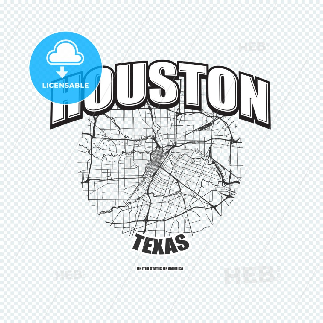 Houston, Texas, logo artwork
