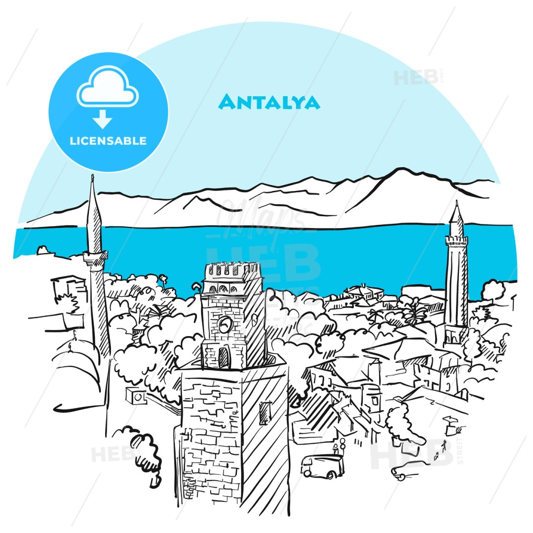 Antalya two toned drawing