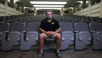 When Dustin Gordon arrived at the University of Iowa, he found himself taking lecture classes with more people in them than his entire hometown of Sharpsburg, Iowa, population 89.