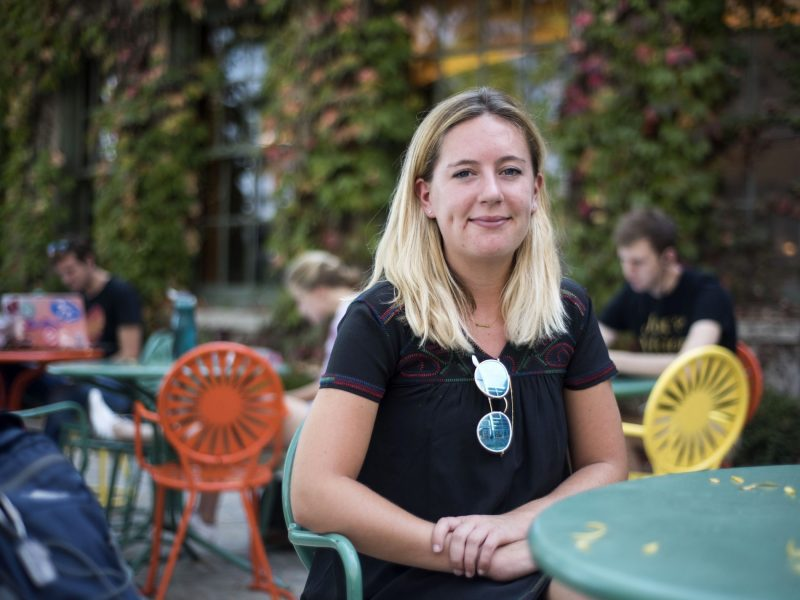 """Katherine Kerwin, legislative affairs chair of the University of Wisconsin student government, leads efforts against letting public university students in Wisconsin opt out of paying fees to clubs and causes with which they disagree. """"We can't eliminate things because we're so close-minded that we don't want to pay for an organization that we don't believe in,"""" she says."""