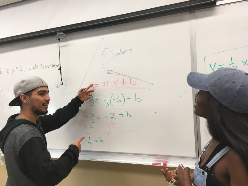 Anthony Rodriguez and Juneba Sulaiman both passed a college-level statistics class last summer after a placement exam indicated they weren't ready for college-level math.