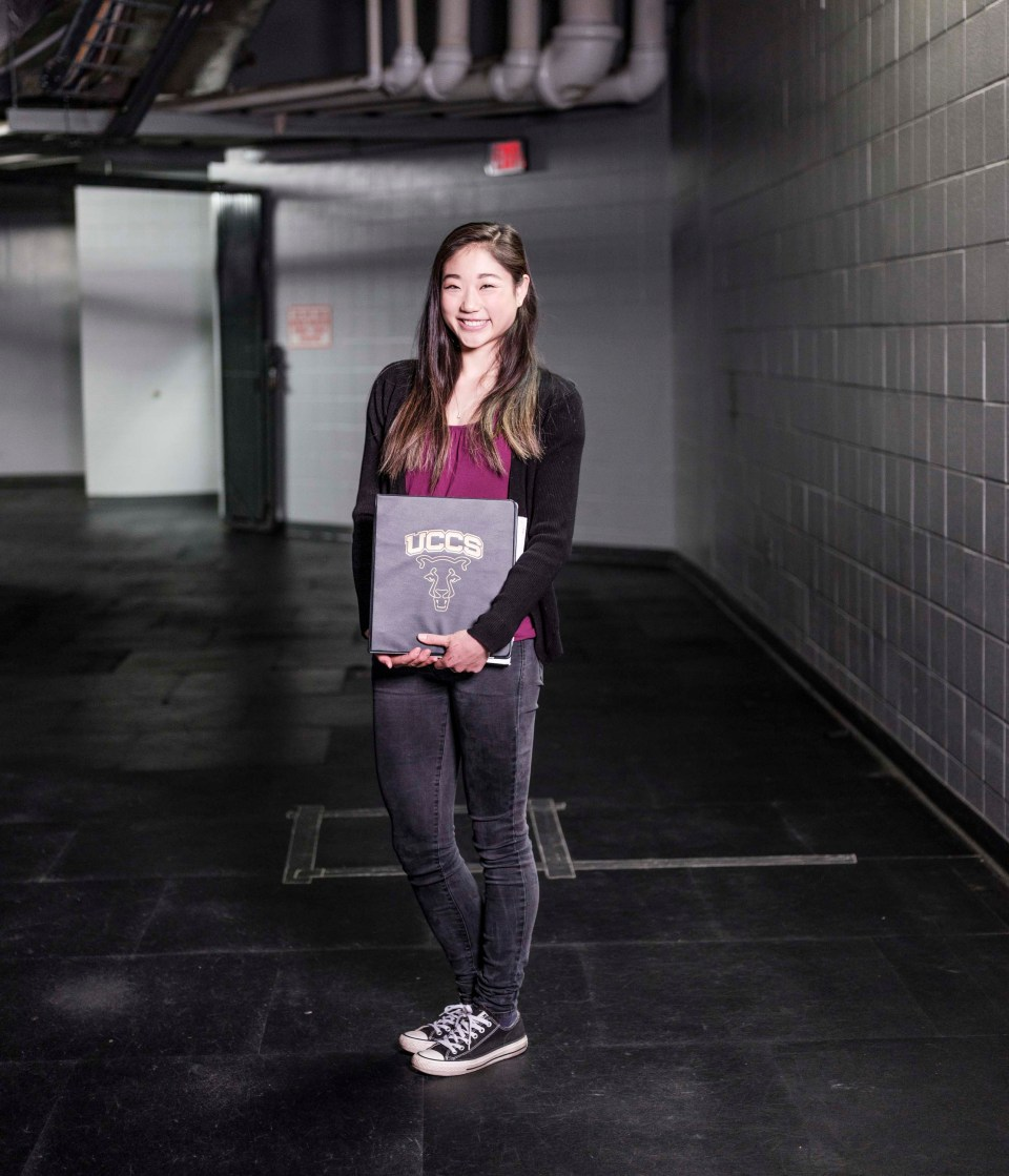 Figure skater Mirai Nagasu carries with her to the practice rink a three-ring binder with notes from an accounting class and a textbook about business law; important pages are bookmarked with decorative sticky notes she got from a fan. Now 24, Nagasu is in the equivalent of her junior year on her way to a bachelor's degree in international business.