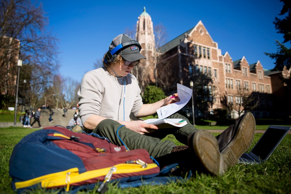 "Michael Troksa, a mechanical engineering major at the University of Washington, thinks students are on their own when it comes to graduating on time. ""When it comes down to it, it's about keeping yourself on track,"" he says."