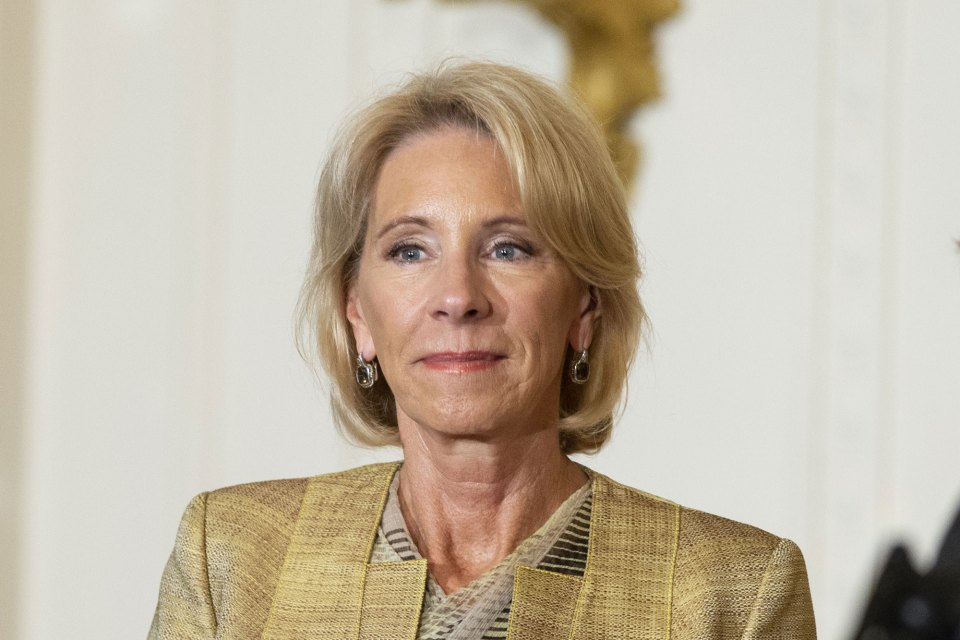 May 2, 2018, Washington D.C. — Education Secretary Betsy Devos at the Teacher of the Year ceremony at the White House.