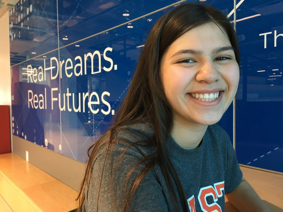 CAST Tech freshman Toney Coronado wants to work in cybersecurity. She chose the high school because she believed it could give her access to the type of company she wants to work for in the future.