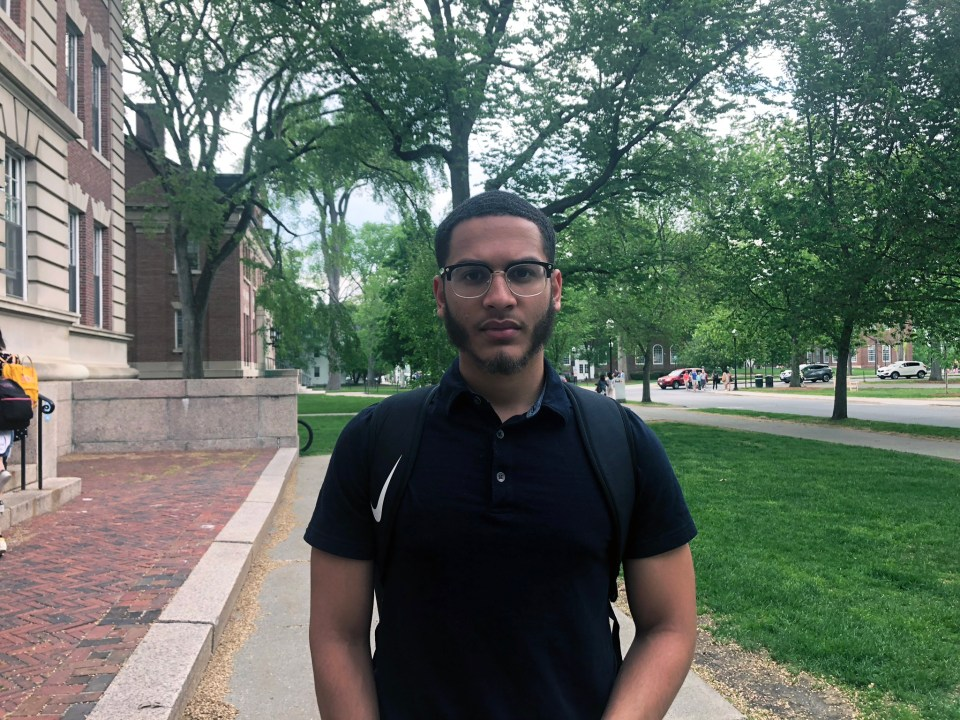 """Daniel Inoa gives his freshman year at Dartmouth """"eight out of 10."""""""