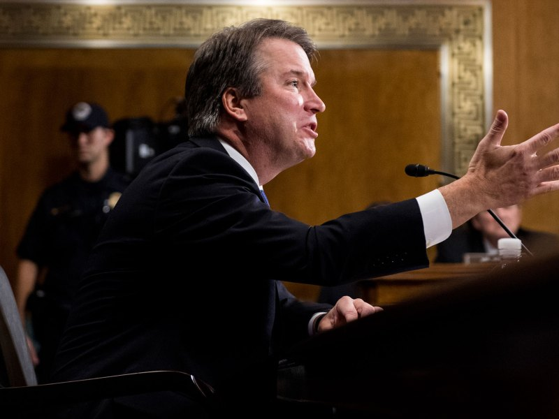 Judge Brett Kavanaugh testifies during the Senate Judiciary Committee hearing on his nomination be an associate justice of the Supreme Court of the United States, on Capitol Hill September 27, 2018 in Washington, DC. A professor at Palo Alto University and a research psychologist at the Stanford University School of Medicine, Ford has accused Supreme Court nominee Judge Brett Kavanaugh of sexually assaulting her during a party in 1982 when they were high school students in suburban Maryland.