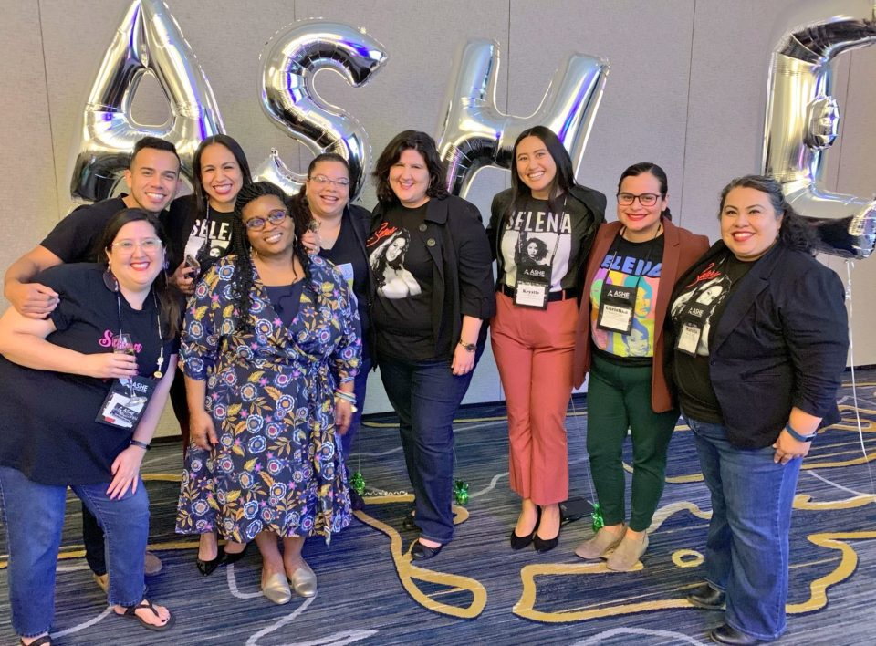 """Participants celebrate """"Selena Day"""" as part of the Association for the Study of Higher Education annual conference."""