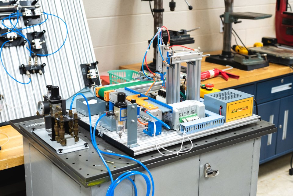 Students at Walker Valley High School in Cleveland, Tennessee, can graduate with 12 college credits if they complete the school's mechatronics program.