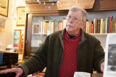 """Ben Koenig, owner and operator of the Country Bookshop near Goddard College in Plainfield, Vermont. """"I would hate to see them close, and it would have an effect,"""" says Koenig."""