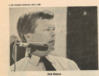 In 1989, some 25 years after the murders, Dick Molpus became the only public official in the state of Mississippi to offer an apology for the murders. (Neshoba Democrat photo)