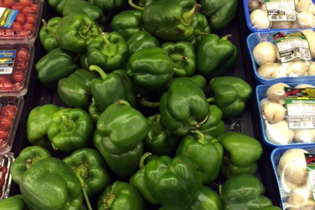 Vegetables at a local grocery store in Rolling Fork, where residents say healthy foods are often too expensive.