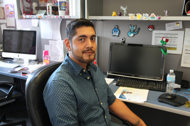 Jose Salas, 22, earned his high school diploma from YouthBuild Charter School of California last year, and now works for the organization building alumni relations. (Photo: Brenda Iasevoli)