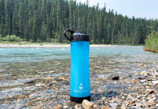 reusable filtered water bottle