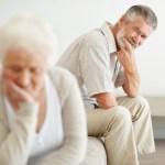 Unhappy Senior Couple
