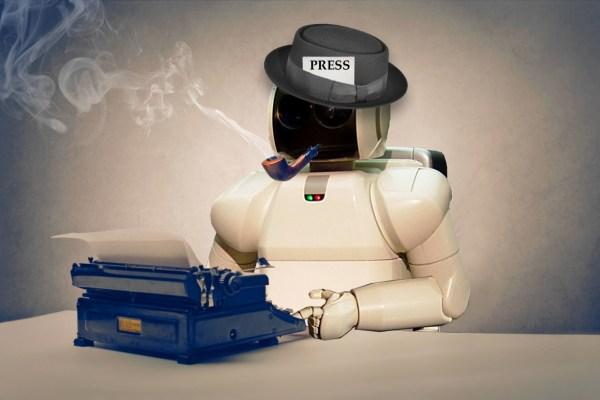 """Résultat de recherche d'images pour """"journalist robot"""""""