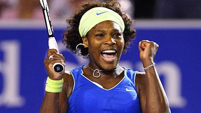 Serena festejo