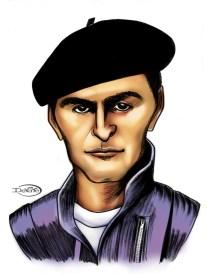 Leonardo Favio caricatura