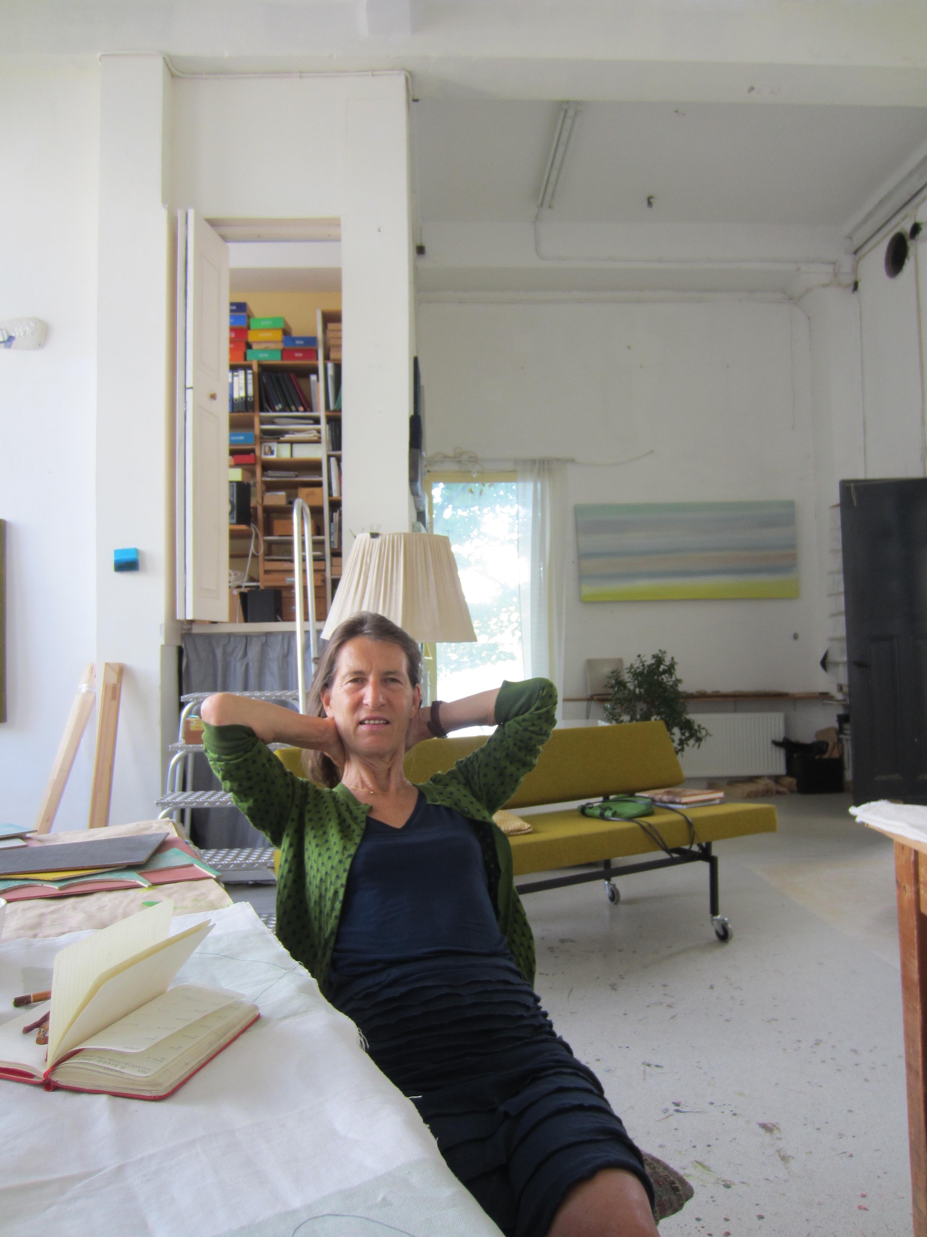 Beppe Kessler in haar atelier