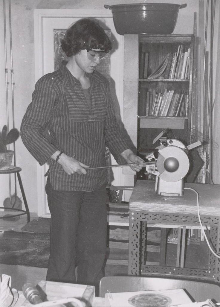 Françoise van den Bosch aan het werk