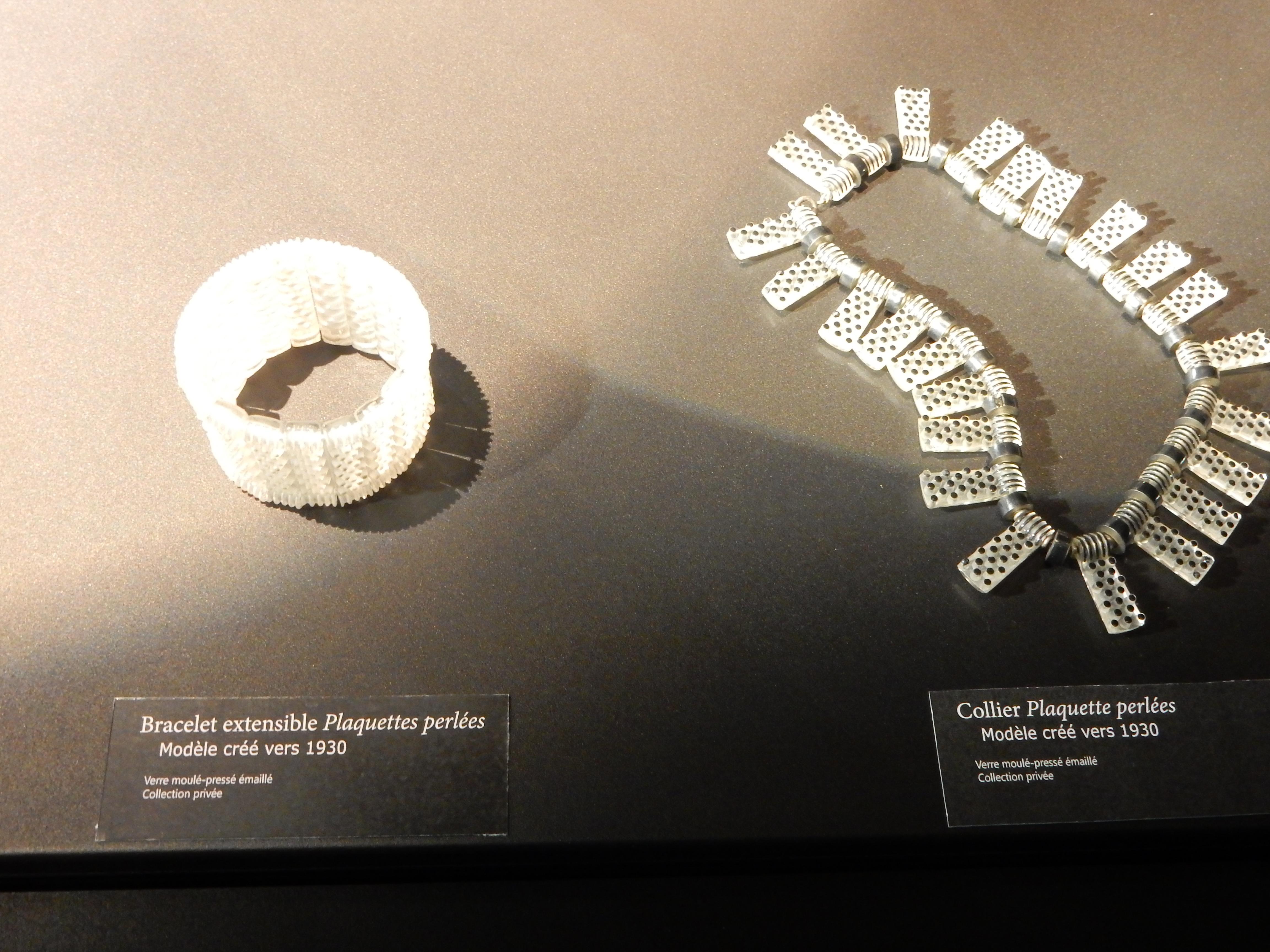 Musée Lalique, Wingen-sur-Moder, armband, halssieraad
