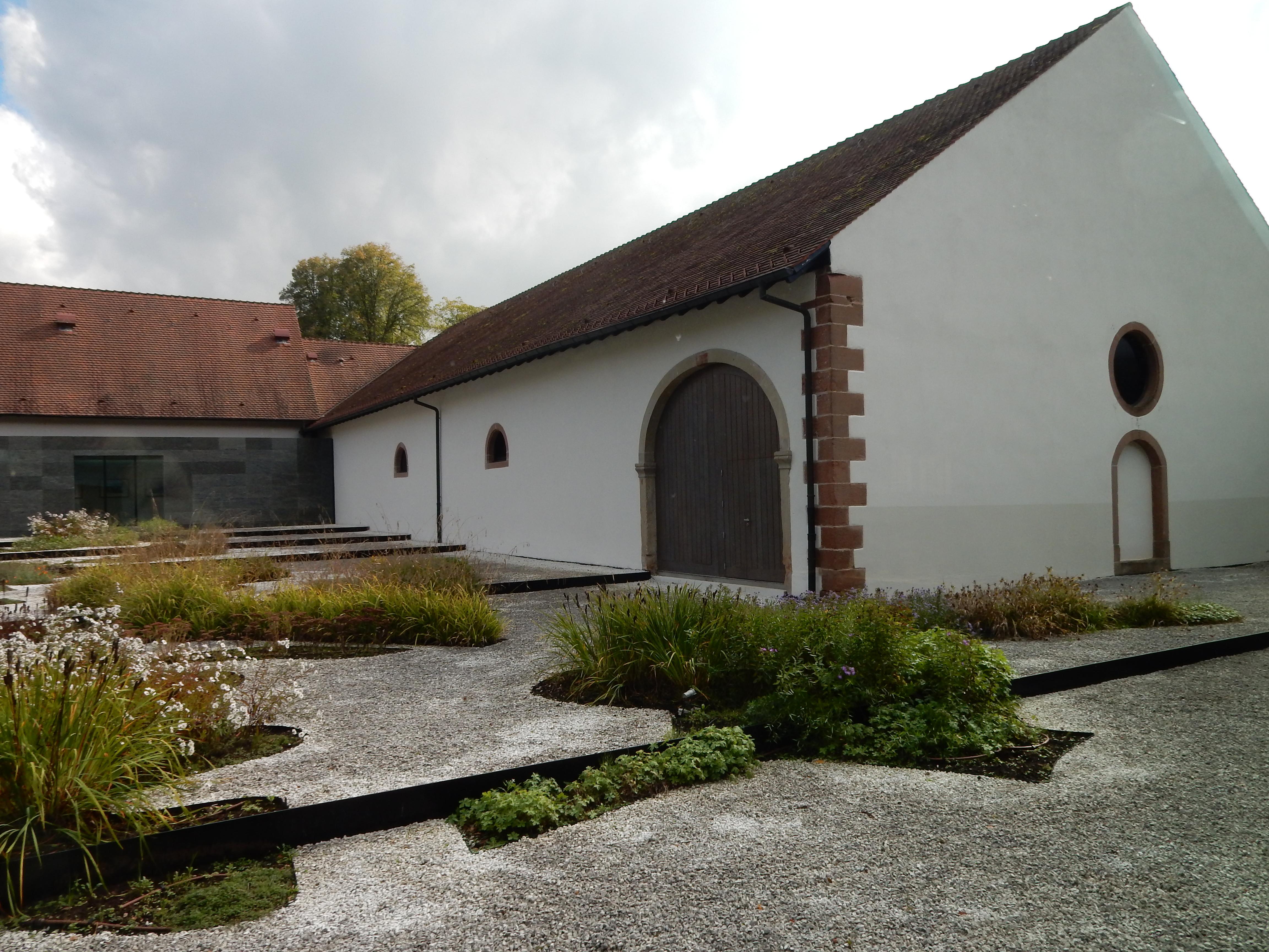Musée Lalique, Wingen-sur-Moder, exterieur, tuin, binnenplaats