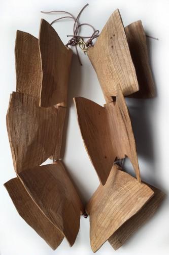 Dorothea Prühl, Schmetterlinge, 2015, hout, goud, koord