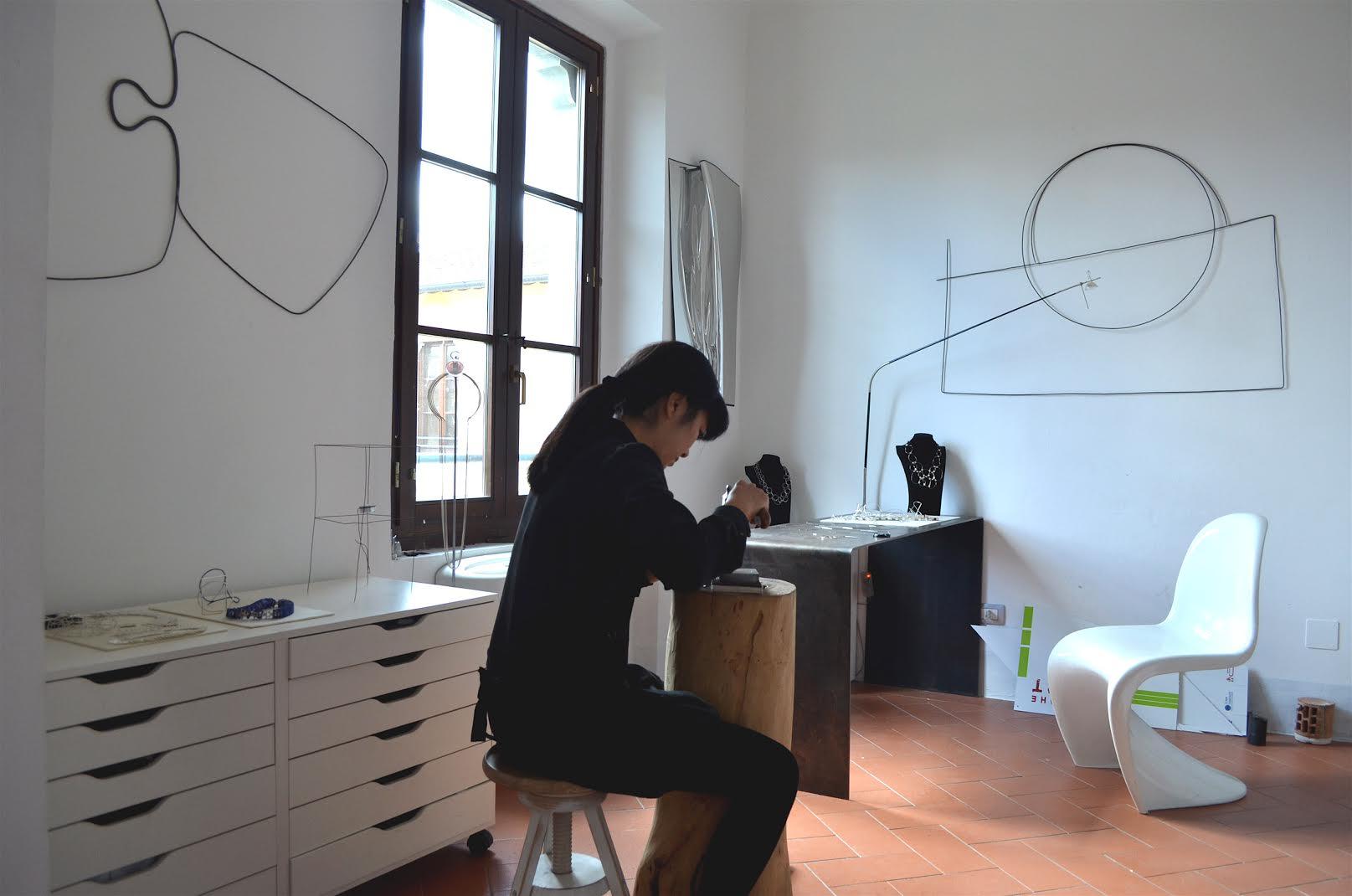 Yoko Takirai aan het werk. Foto met dank aan Yoko Takirai©