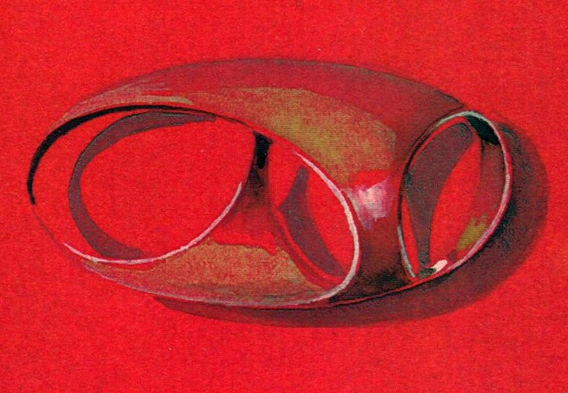 Riet Neerincx, ontwerp broche Vreedenburghprijsvraag, 1964, papier
