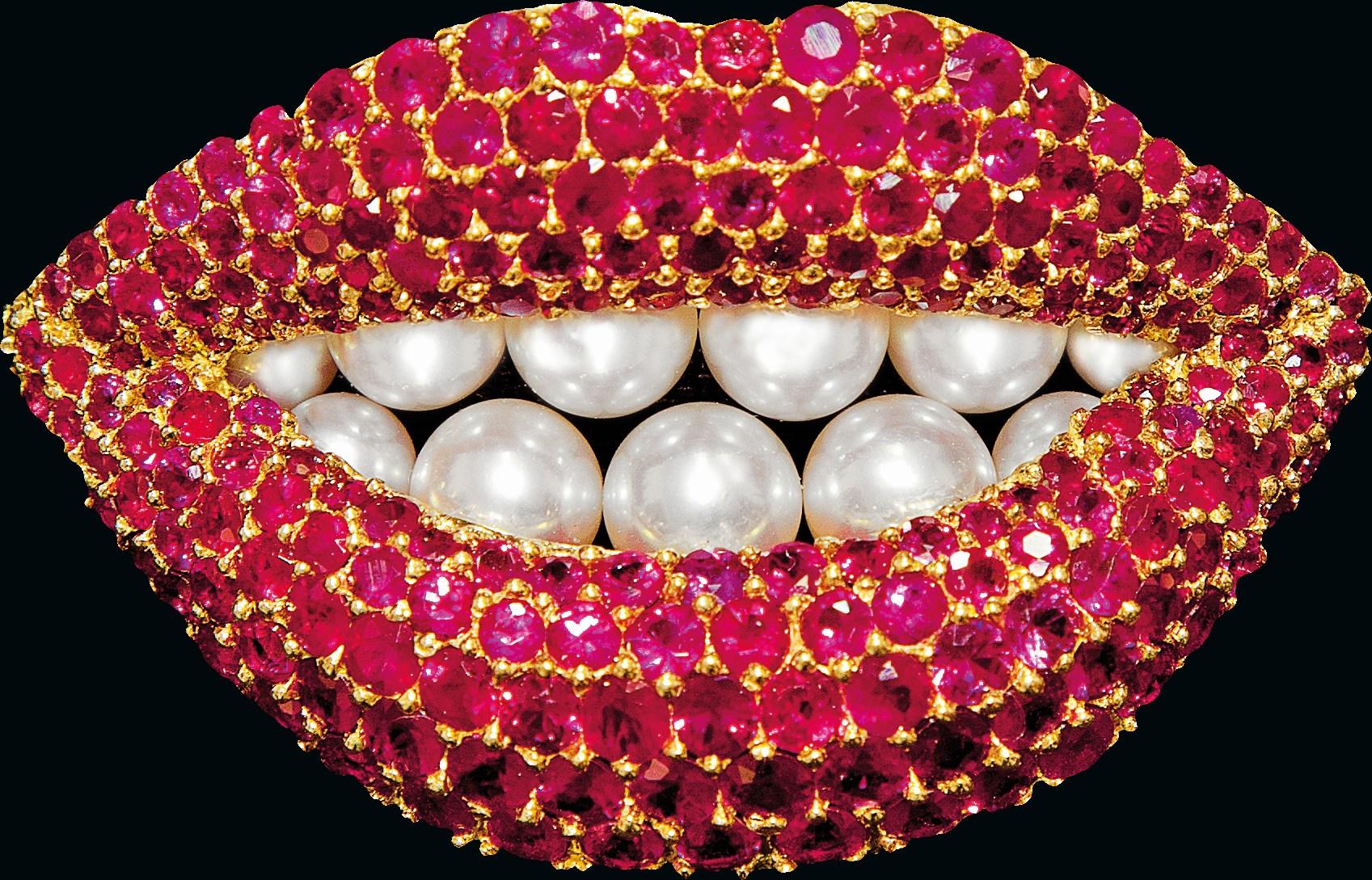 Salvador Dalí, Ruby Lips (reproductie door Henryk Kaston), circa 1980. Particuliere collectie. Foto met dank aan ADAGP, Robin Hill©