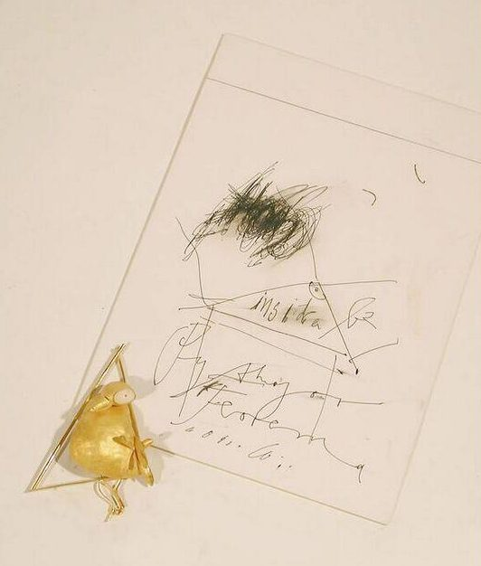Manfred Bischoff, Phytagoras, ring en tekening, circa 2000. Foto met dank aan SMS©