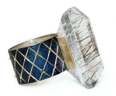 Philip Sajet, Rutile Quartz Stone Ring, 2014. Foto met dank aan Ornamentum Gallery©