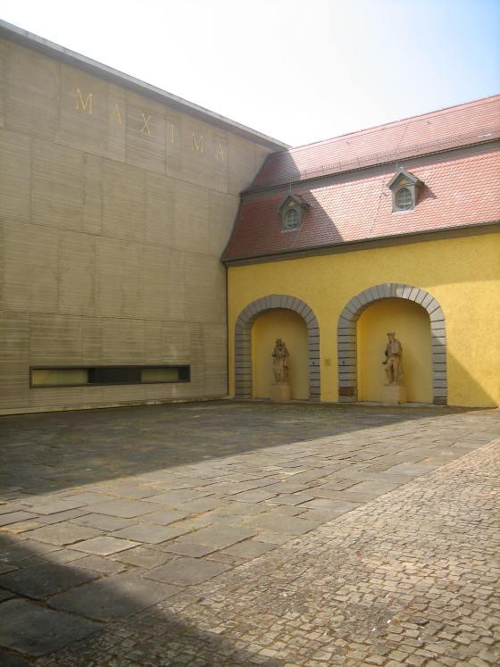 Angermuseum, Erfurt, binnenplaats. Foto Esther Doornbusch, mei 2018, CC BY 4.0