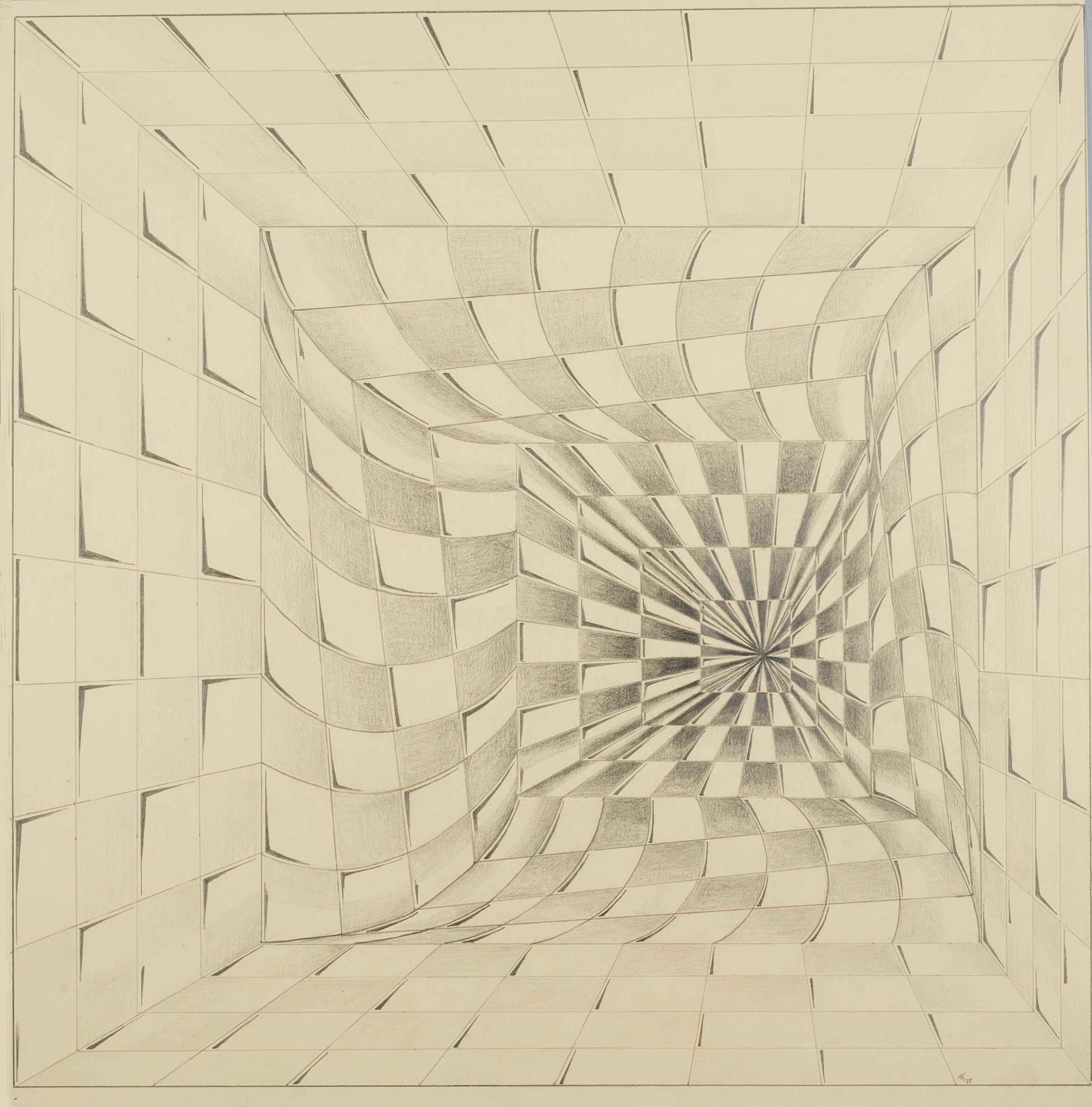 Nicolaas Thuys, tekening, 1977. Collectie CODA, NT00059. Foto met dank aan CODA©