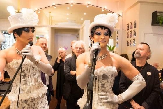 De Rozettes tijdens het jubileumfeest van Galerie Ra, 16 oktober 2016. Foto .O.