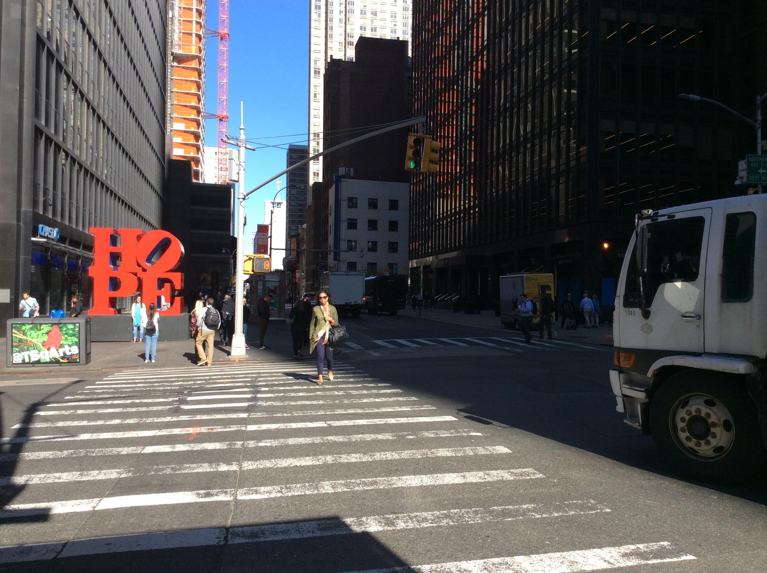 Robert Indiana, Hope, Manhattan, 2017. Foto met dank aan Epigenius, CC BY-SA 4.0