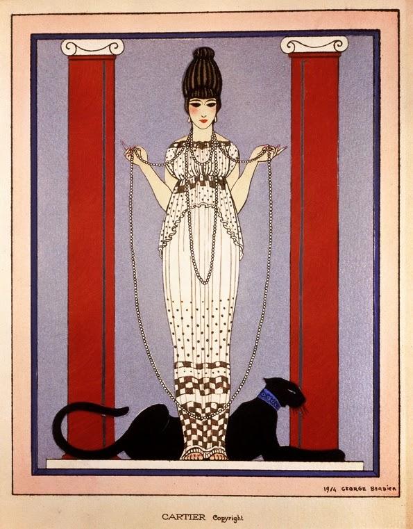 Georgs Barbier voor Cartier, 1914, papier, inkt, drukwerk