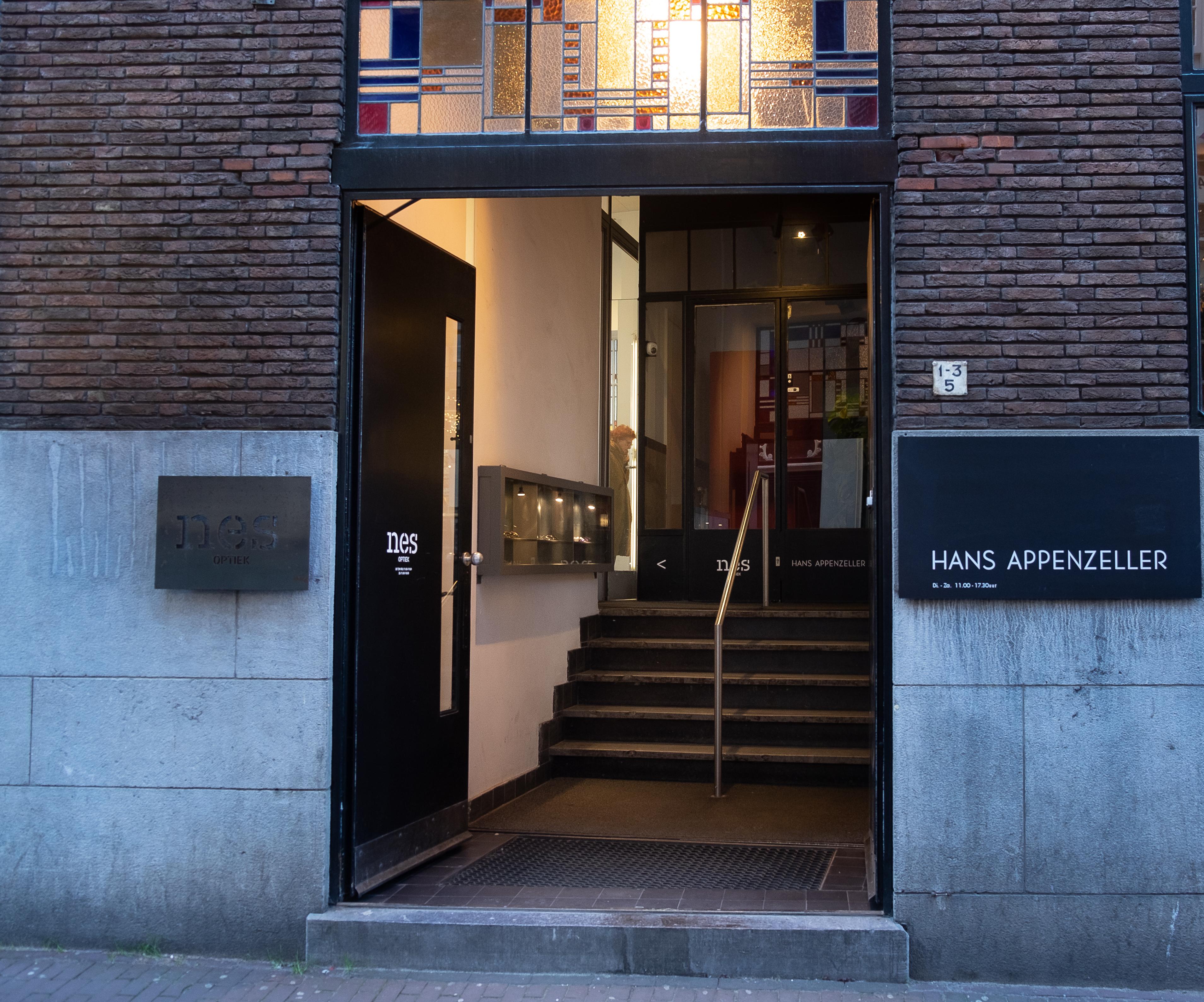 Nes Optiek en Hans Appenzeller, Sieradenkwartier Amsterdam, februari 2019. Foto met dank aan M.O.©