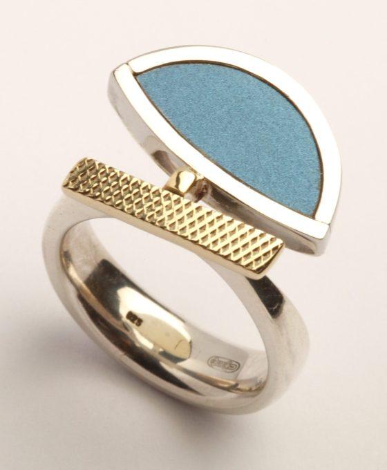 Karel Betman, ring, goud, zilver, aluminium, roestvrij staal
