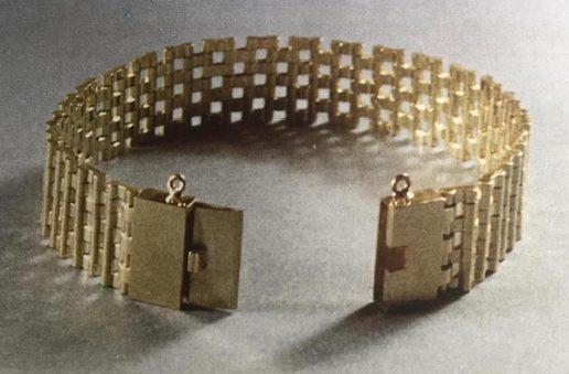 Bernard Laméris, P'tit maille, armband, 1964. Foto Rinus van Schie, goud