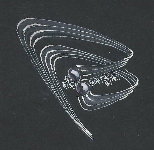 Fritz Eberle, ontwerptekening, 1940-1960. Foto met dank aan Grafische Sammlung Stern©