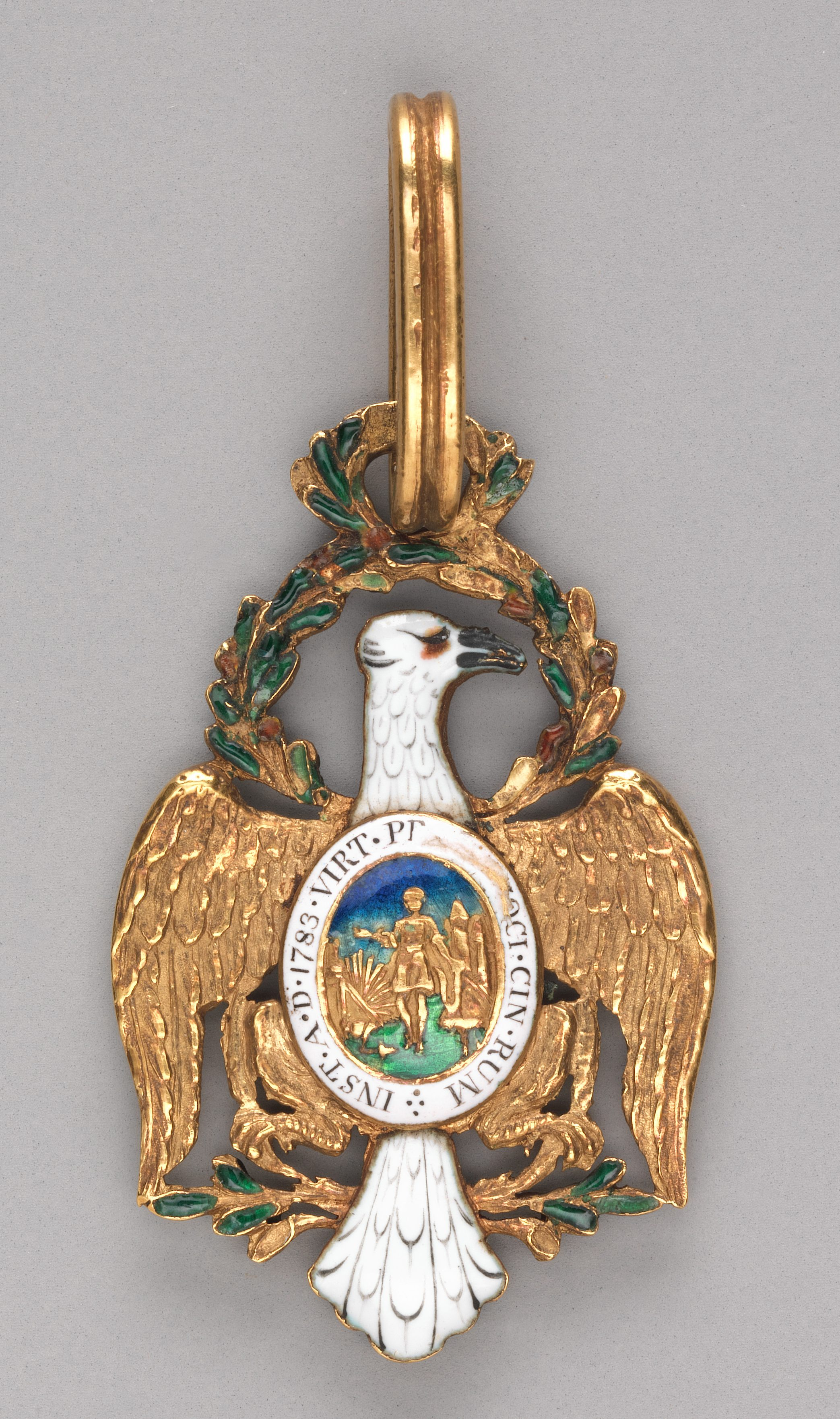 Pierre Charles l'Enfant, badge, circa 1783. Collectie Metropolitan Museum of Art, 35.46a, b. Foto met dank aan Metropolitan Museum of Art©