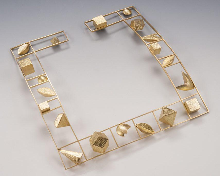 Linda Threadgill, Square Gold Choker, halssieraad, 1999, goud