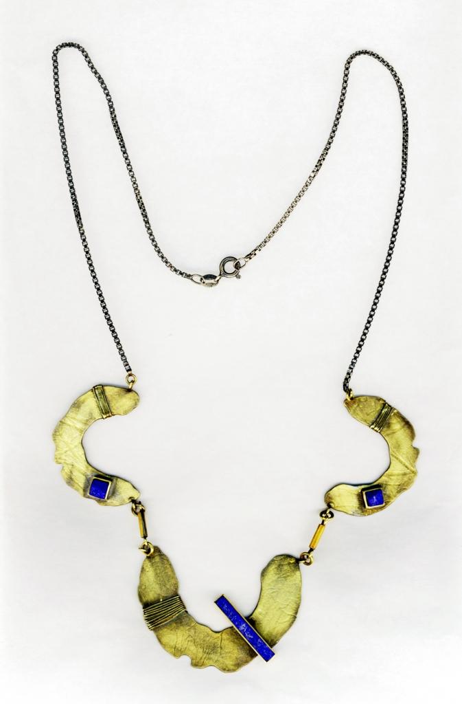 Harold O'Connor, halssieraad, goud, zilver, lapis lazuli
