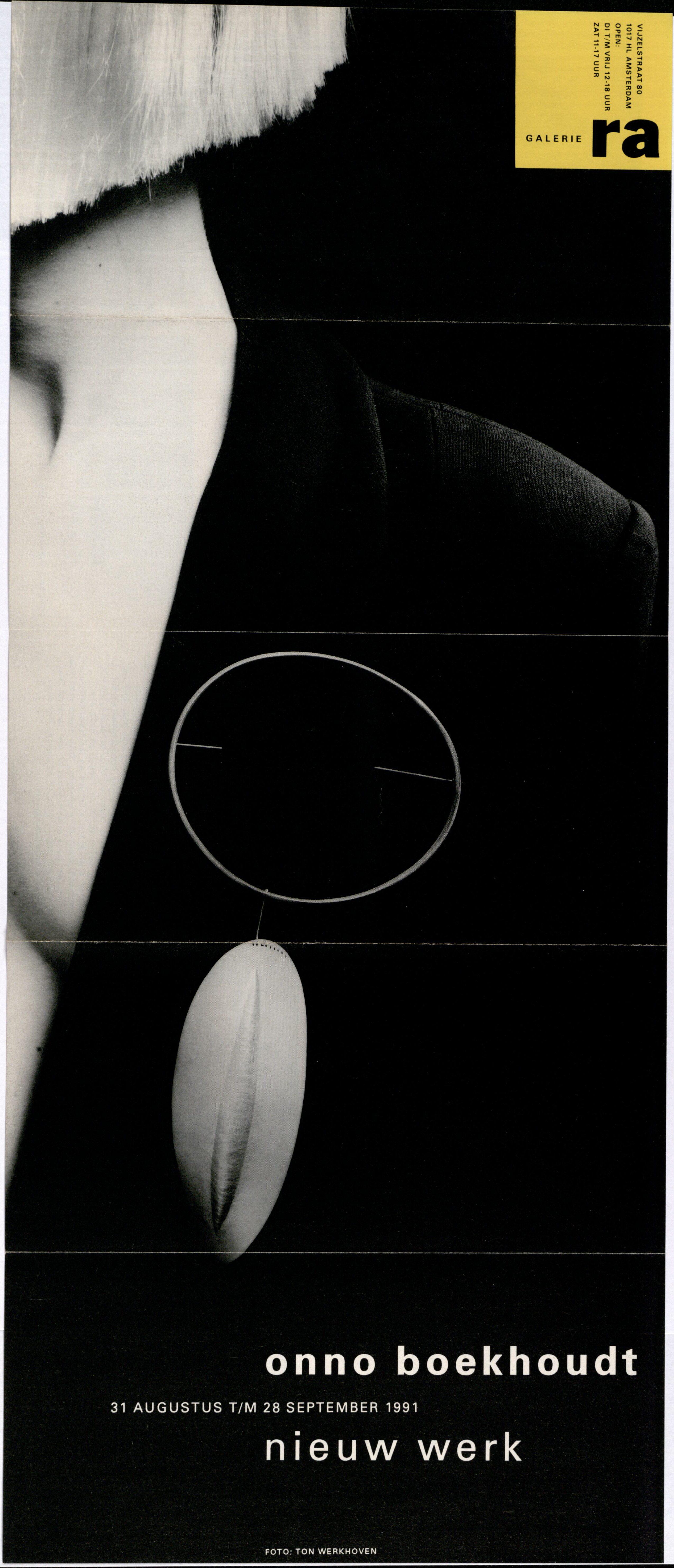 Ra Bulletin 63, september 1991, voorzijde met foto van Ton Werkhoven met broche van Onno Boekhoudt, drukwerk, paier, metaal